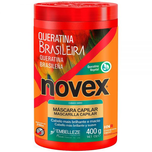 mascara novex queratina brasileira 400g