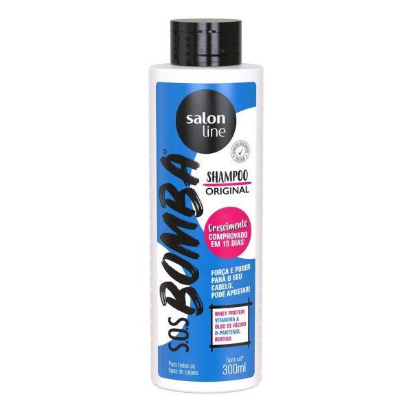 988262 shampoo original 300ml sos bomba loja da salon line