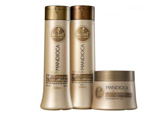 0020855 haskell mandioca pack shampoo condicionador mascara 600